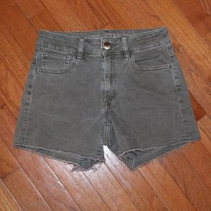 American Eagle, olive color,  high rise shorts
